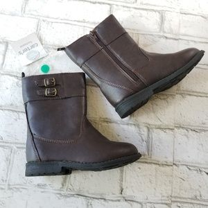 NWT.Girl's Carter's Evelyn Brown Boots 10 Toddler